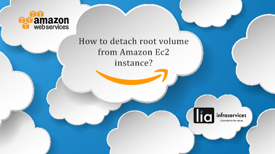 How to detach root volume from Amazon EC2 instance?